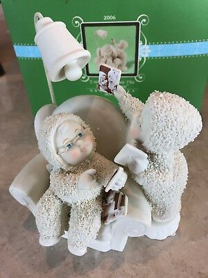 "Dept 56 Snowbabies ""I Wonder Where The Time Has Gone"" With Original Packaging"