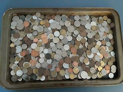 Large Lot of Foreign/ World Coins Over 7 Pounds Good Mix
