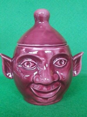 Immaculate Retro PRICE KENSINGTON Ceramic Double Face Lidded Pixie Beetroot Pot