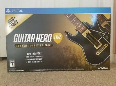 ❤️Guitar Hero Live Supreme Party Edition 2 Pack Bundle - PlayStation 4 PS4 NEW❤️