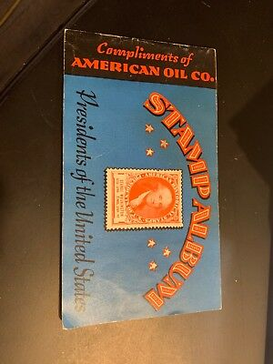 1936 American Oil Company Presidents Of The United States Stamp Album Complete