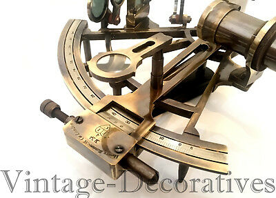 "8"" Solid Brass Sextant Nautical Working Instrument Astrolabe Ship Maritime Gift"