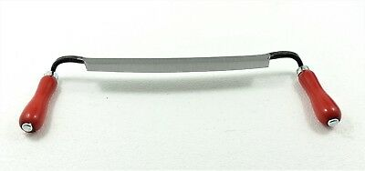 "Wood Working Draw Shave - Draw Knife 11"" Hand Wrought Forged"