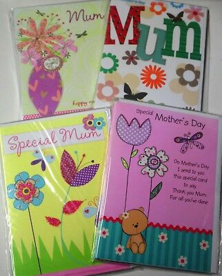 72 Mother's Day Cards Code 75, Wrapped, Auction 4 Designs,(B190
