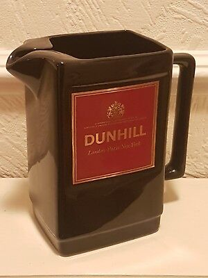 Vintage retro ceramic Seton Pottery, bar black 7 inch Dunhill water jug pitcher