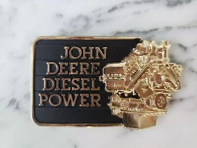 Vintage John Deere Belt Buckle 1982 Diesel Power