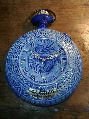 Vintage Blue and White Pottery Liqueur Decanter