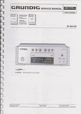 Grundig M 100-CD Serviceunterlagen Manual Unterlagen