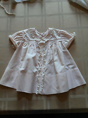 Vintage 1950 Infant Dresses -Pink, White, Yellow