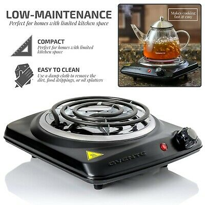Electric Single Burner Portable Hot Plate Stove Countertop Travel Cooker 1000 W