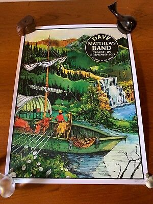 2015 DAVE MATTHEWS BAND GORGE BOAT  CONCERT TOUR POSTER 9/6 #/1460 Awesome