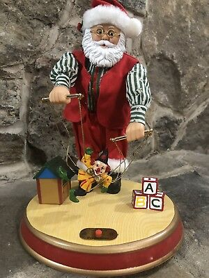North Pole Production Animated Santa With Mariinette Puppet