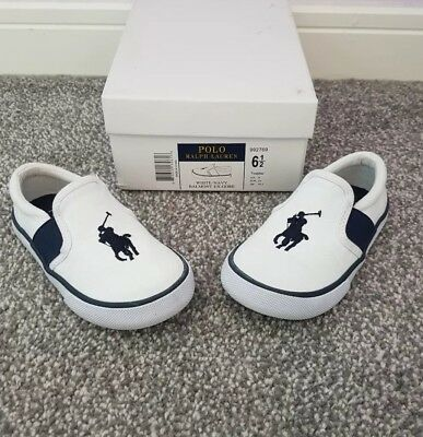 POLO by Ralph Lauren Infant / Toddler Boys Trainers / Canvas Shoes - UK 6