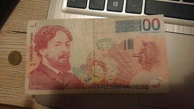100 Frank Nationale Bank Van  Belgie