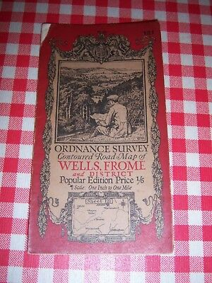 ordnance survey map - Wells and Frome