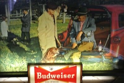 Vintage 1950's Budweiser Beer Lighted Sign