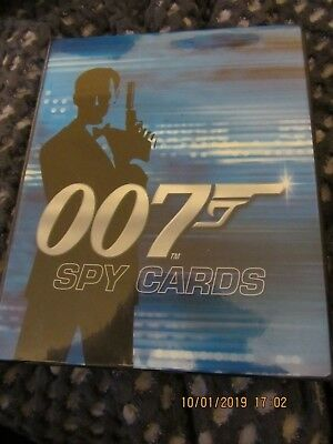 007 james bond spy cards and binder job lot