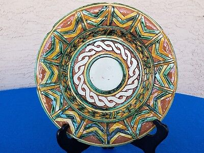 """Vintage Art Pottery Plate Italy L.d.bec Italy 9 1/2"""" #1 L@@k Here!!"""