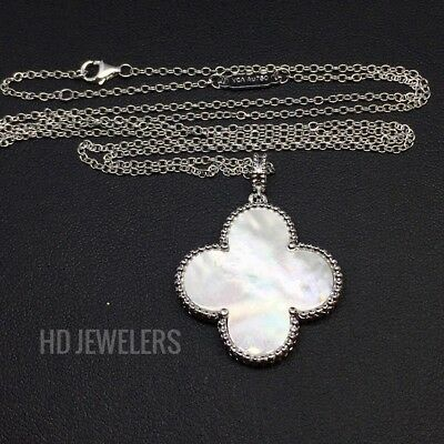 925 Sterling Silver Four Leaf Clover /& Wishbo Charm Pendant 21mm x 16mm