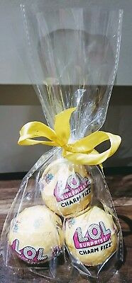 💕3 AUTHENTIC UK LOL Surprise Charm Fizz Balls. Wrapped Hamper Gift Birthday💕