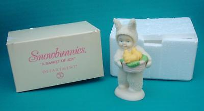 Department Dept 56 Snowbunnies A BAsket of Joy Figurine Box 56 05824