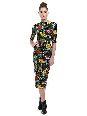 2e8e34f5f7ae Alice + Olivia Delora Fitted Midi Dress, Chinoiserie Multi, Size 4 NWT!