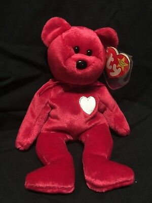 """TY Beanie Babies VALENTINO"""""""" and """"VALENTINA"""": 1993/1999: MWMT: Happy Together!!"""