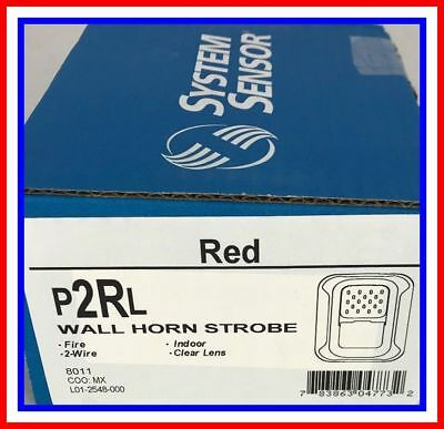 SYSTEM SENSOR P2RL - 2-WIRE HORN STROBE RED New In Box