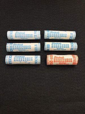 Binion's Horseshoe Casino $2 Nickel & Quarter Rolls Slot Machine Coins Jennings