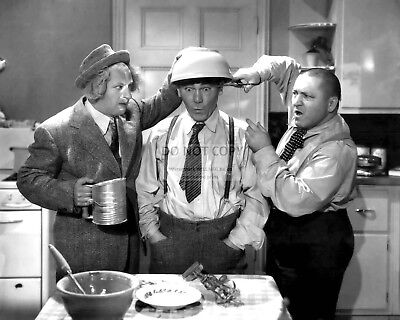The Three Stooges Larry Fine, Moe & Curly Howard - 8X10 Publicity Photo (Ep-183)