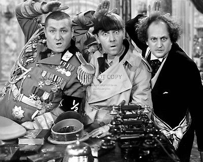 The Three Stooges Larry Fine, Moe & Curly Howard - 8X10 Publicity Photo (Ep-184)