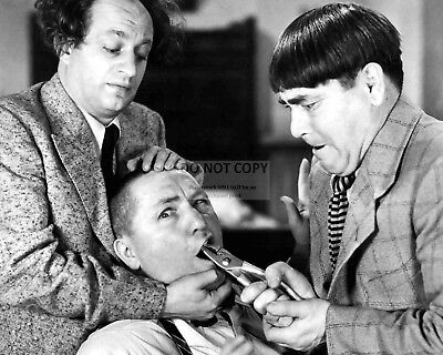 The Three Stooges Larry Fine, Moe & Curly Howard - 8X10 Publicity Photo (Ep-187)