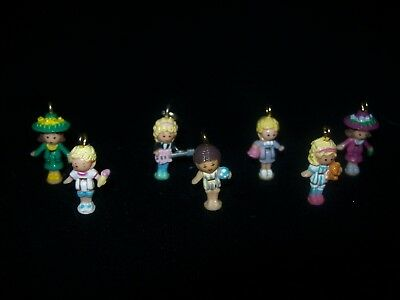 USED Seven Vintage Polly Pocket Charms (Lot 4)