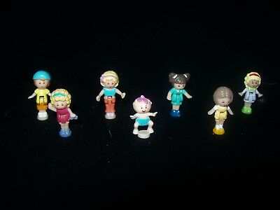 USED Seven Vintage Polly Pocket Dolls (Lot 9)
