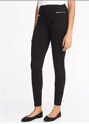 2ddbc4c5141f OLD NAVY HIGH-RISE Stevie Ponte-Knit Sueded-Trim Zip-Panel Pants ...