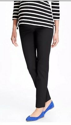 Old Navy Maternity Side-Panel Pixie Ankle Pants in Black ~ Black NWOT 14