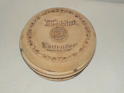 Vintage Wood Shaving Soap Container Box, Wembdom Lavender, House Of Wembdon