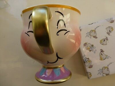 DISNEY CHIP BUBBLES MUG BEAUTY And The BEAST CUP NOVELTY COLLECTABLE RARE NEW A