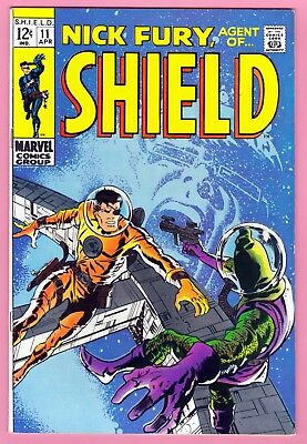 Nick Fury, Agent of SHIELD #11 Marvel Silver Age Comic (1969) VF