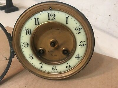 Antique French Mantle Clock Movement Unsigned Japy Marti Era