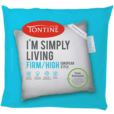 NEW Simply Living Firm European Pillow - Tontine,Pillows