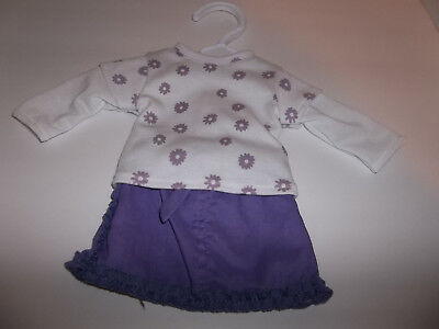 """Skirt Set Longsleeve Tee and Skirt made for 18"""" American Girl Doll Clothes New"""