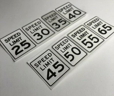 1/24 - 1/25 - G Scale Model Car Diorama - Speed Limit Signs
