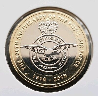 RAF Anniversary Of The Royal Air Force 2pound coin BRAND NEW UNCIRCULATED FREE C