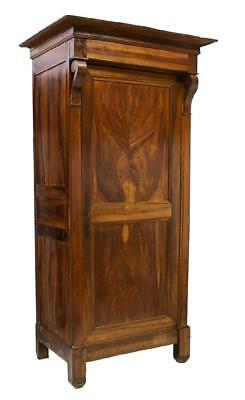 TALL FRENCH LOUIS PHILIPPE MAHOGANY BONNETIERE ARMOIRE, 19th Century ( 1800s )