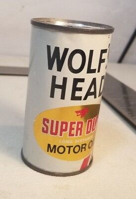 Vintage Wolf's Head Motor Oil Can Bank 83A
