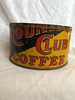 Vintage Country Club Coffee 1 pound can - no lid