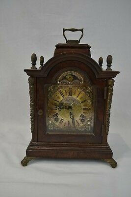 Wuba 'Warmink' Moonphase Chiming Mantel Carriage Clock