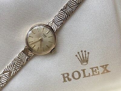 Beautiful Ladies Woman's ROLEX Tudor 9ct 9k Solid Gold Watch And Bracelet boxed