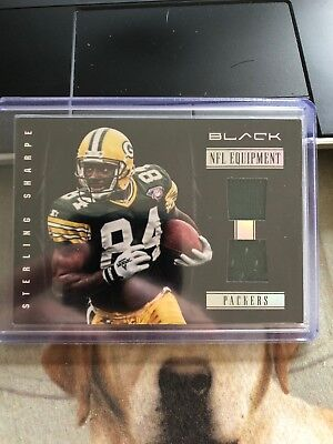 Sterling Sharpe 2012 Black Packers 2 piece Jersey Patch Card #/99